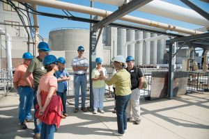 Great Lakes Advanced Training students taking tour of Milwaukee water treatment facility