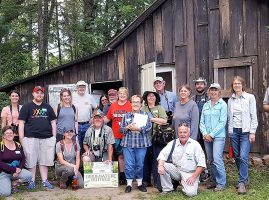 Master Naturalist group poses during field trip to Leopold Shack